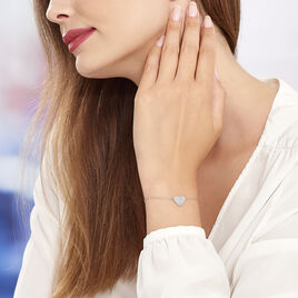Bracelet Mea Argent Blanc Oxyde De Zirconium - Bracelets Coeur Femme | Histoire d'Or