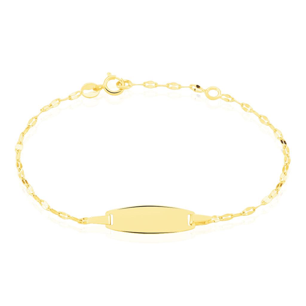 Bracelet Identité Eowyn Maille Fantaisie Or Jaune - Bracelets Communion Enfant   Histoire d'Or