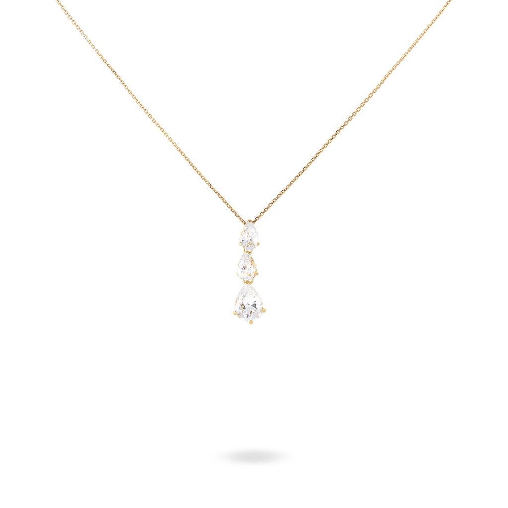 Collier Ice Or Jaune Oxyde De Zirconium - Bijoux Femme | Histoire d'Or