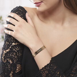 Bracelet Jonc Jeanne-lise Plaque Or Jaune - Bracelets fantaisie Femme | Histoire d'Or