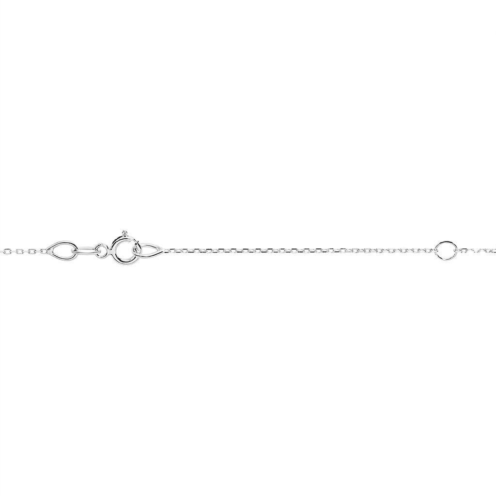 Collier Clothilde Or Blanc Topaze Et Oxyde De Zirconium - Colliers Coeur Femme   Histoire d'Or