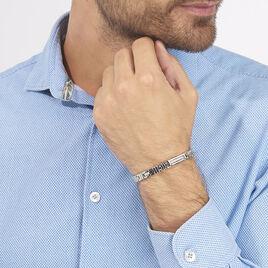 Bracelet Julien Acier Blanc - Bracelets fantaisie Homme | Histoire d'Or
