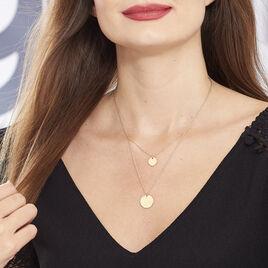 Collier Maro Plaque Or Jaune - Colliers doubles et triples chaînes Femme   Histoire d'Or