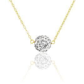 Collier Phedra Or Jaune Strass - Bijoux Femme | Histoire d'Or