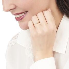 Bague Accumulation Coeur Argent Jaune Oxyde De Zirconium - Bagues Coeur Femme   Histoire d'Or