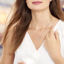 Collier Mai-lee Plaque Or Jaune Oxyde De Zirconium - Bijoux Femme | Histoire d'Or