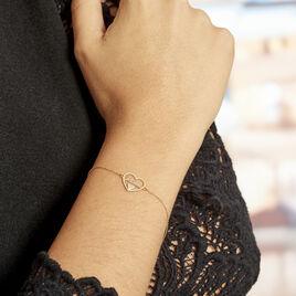 Bracelet Or Jaune Veridienne Oxyde - Bracelets Coeur Femme | Histoire d'Or
