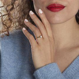 Bague Solitaire Vicoeuria Or Jaune Diamant Synthétique - Bagues solitaires Femme | Histoire d'Or