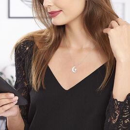 Collier Soleina Argent Blanc Oxyde De Zirconium - Colliers Etoile Femme | Histoire d'Or