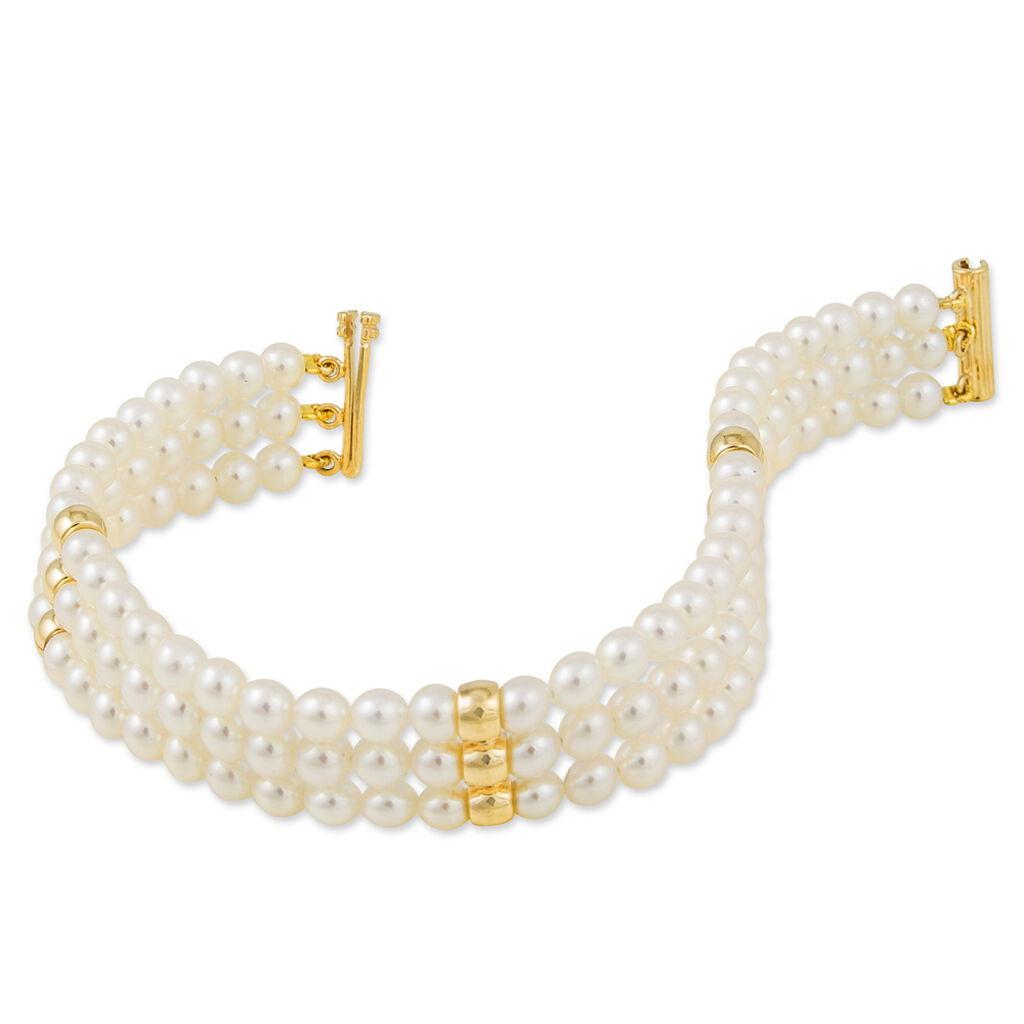 Bracelet Bidia Or Jaune Perle De Culture - Bijoux Femme   Histoire d'Or
