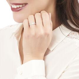 Bague Tiama Argent Blanc Oxyde De Zirconium - Bagues avec pierre Femme | Histoire d'Or