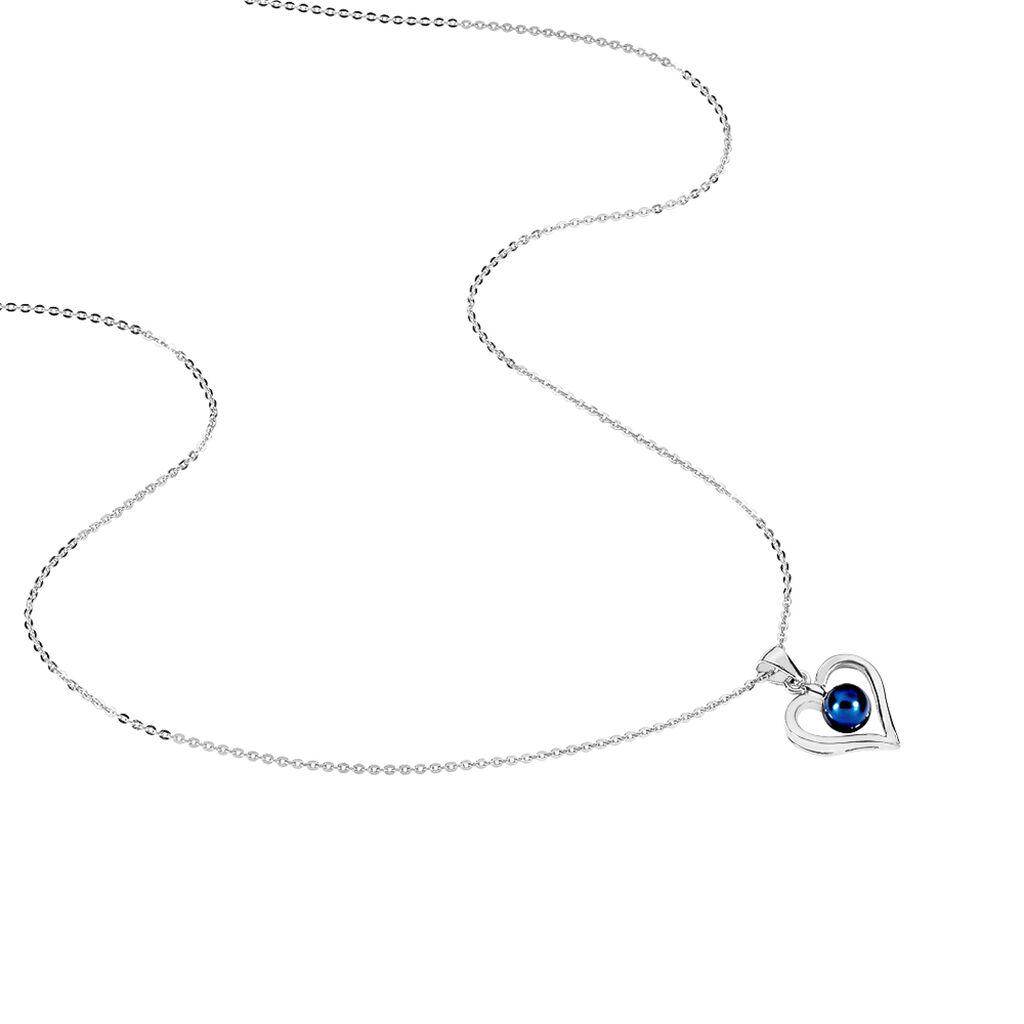 Collier Saynaae Argent Blanc Perle De Culture - Colliers Coeur Femme   Histoire d'Or