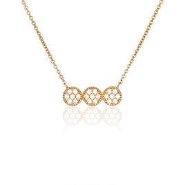 Collier Gemma Plaque Or Jaune Oxyde De Zirconium - Colliers fantaisie Femme | Histoire d'Or