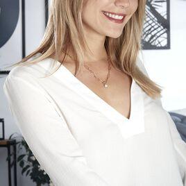 Collier Soalie Plaque Or Jaune Perle D'imitation - Bijoux Femme   Histoire d'Or