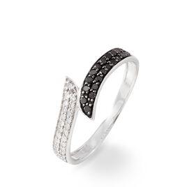 Bague Melya Or Blanc Diamant - Bagues avec pierre Femme   Histoire d'Or