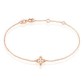 Bracelet Filipina Or Rose Oxyde De Zirconium - Bracelets Trèfle Femme | Histoire d'Or