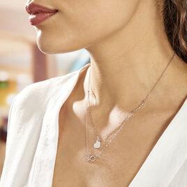 Collier Argent Blanc Laux - Colliers Coeur Femme | Histoire d'Or