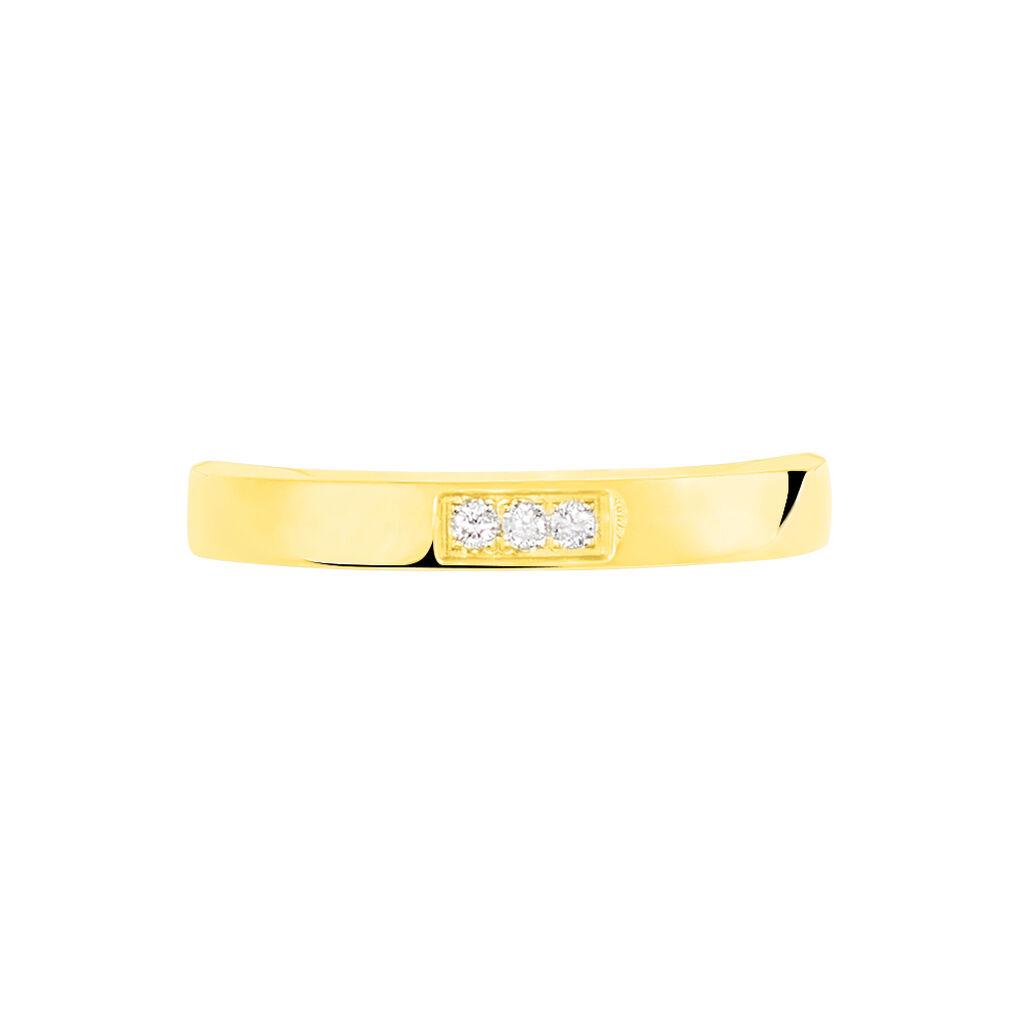 Alliance Or Jaune Et Diamants 3mm - Alliances Femme   Histoire d'Or