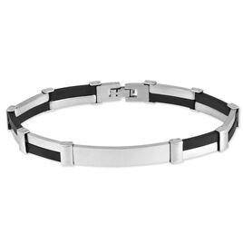 Bracelet Identite Acier Caoutchouc - Bracelets fantaisie Unisexe | Histoire d'Or