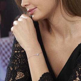 Bracelet Eurycide Or Blanc Oxyde De Zirconium - Bijoux Femme | Histoire d'Or