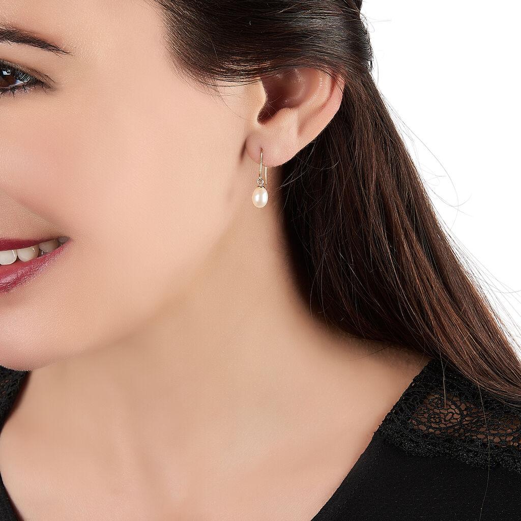 Boucles D'oreilles Pendantes Baroque Or Jaune Perle De Culture - Boucles d'oreilles pendantes Femme   Histoire d'Or