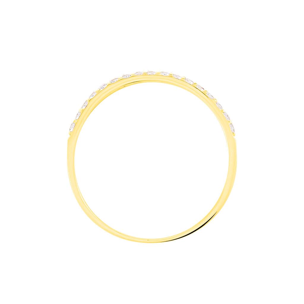 Bague Katiana Or Jaune Oxyde De Zirconium - Bagues avec pierre Femme | Histoire d'Or