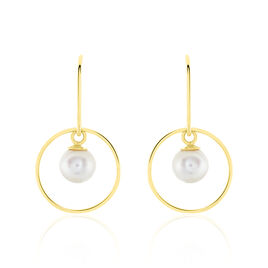 Boucles D'oreilles Pendantes Salvine Or Jaune Perle De Culture - Boucles d'oreilles pendantes Femme   Histoire d'Or