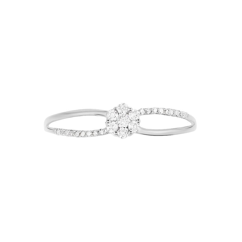 Bague Solitaire Or Blanc Et Diamants - Bagues avec pierre Femme | Histoire d'Or