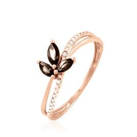Bague Maura Or Rose Quartz Et Diamant - Bagues avec pierre Femme | Histoire d'Or