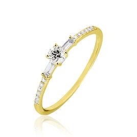 Bague Solitaire Nina Or Jaune Diamant - Bagues avec pierre Femme | Histoire d'Or