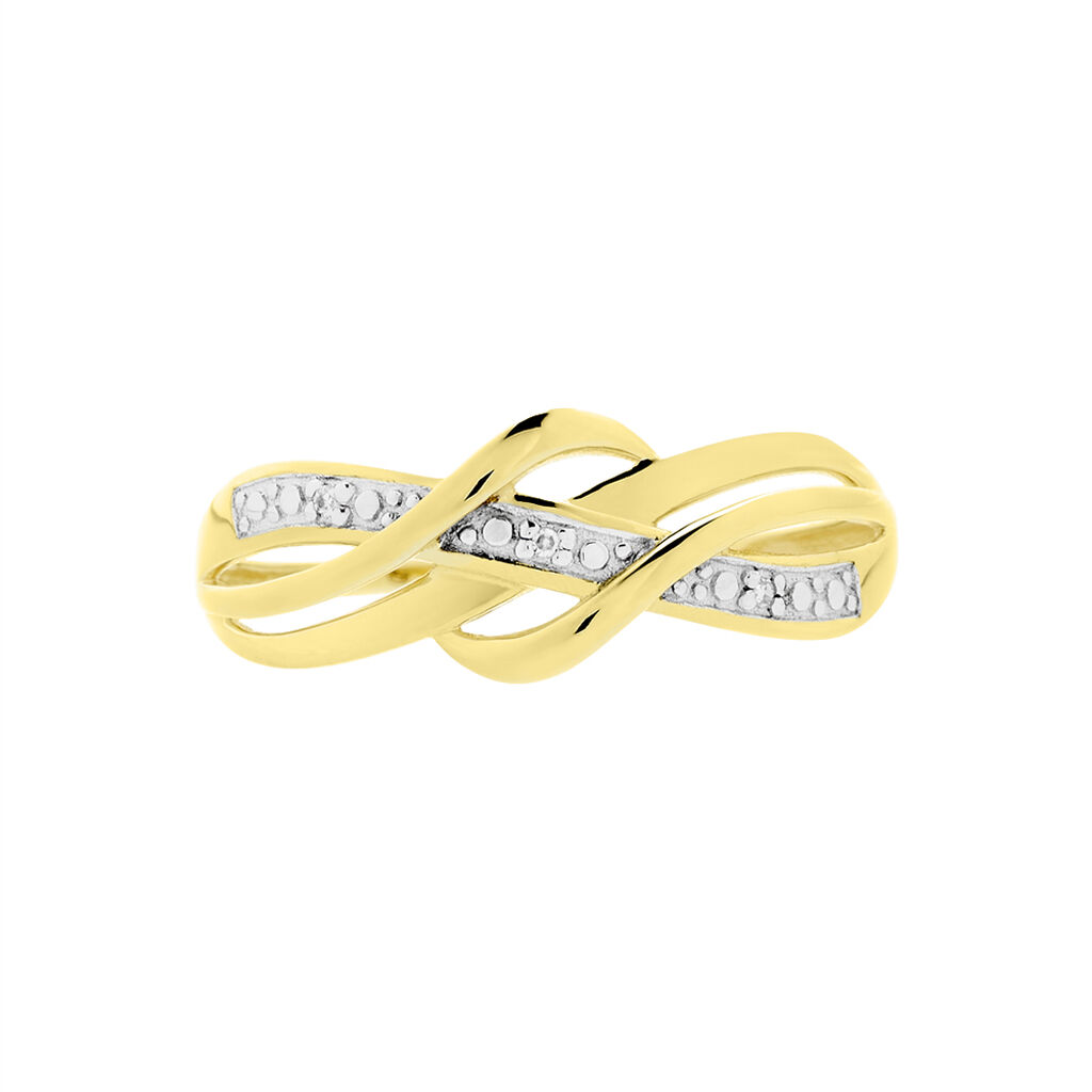 Bague Assa Or Jaune Diamant - Bagues avec pierre Femme   Histoire d'Or