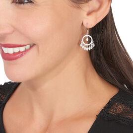 Boucles D'oreilles Pendantes Irmak Argent Blanc Oxyde De Zirconium - Boucles d'oreilles fantaisie Femme | Histoire d'Or
