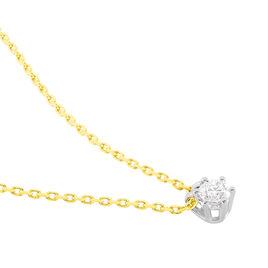 Collier Sadhba Plaque Or Jaune Oxyde De Zirconium - Colliers Lune Femme | Histoire d'Or