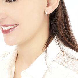 Créoles Lisa Or Blanc Diamant - Boucles d'oreilles créoles Femme | Histoire d'Or