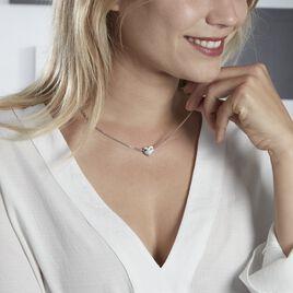 Collier Enoah Argent Blanc - Colliers Coeur Femme   Histoire d'Or
