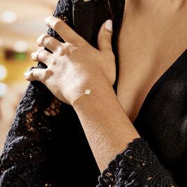 Bracelet Or Jaune Gontranie - Bracelets Trèfle Femme   Histoire d'Or
