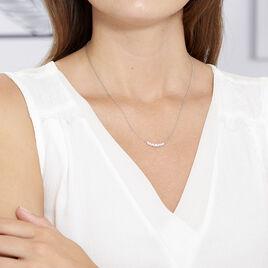 Collier Aliah Argent Blanc Oxyde De Zirconium - Colliers fantaisie Femme | Histoire d'Or