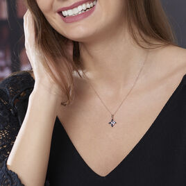 Collier Anabele Or Rose Topaze Et Oxyde De Zirconium - Bijoux Femme | Histoire d'Or