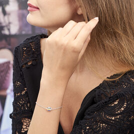 Bracelet Sirene Argent Blanc Pierre De Synthese - Bracelets fantaisie Femme   Histoire d'Or