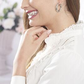 Créoles Adama Acier Blanc - Boucles d'oreilles créoles Femme | Histoire d'Or