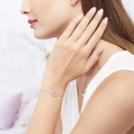 Bracelet Agata Argent Blanc - Bracelets Coeur Femme | Histoire d'Or