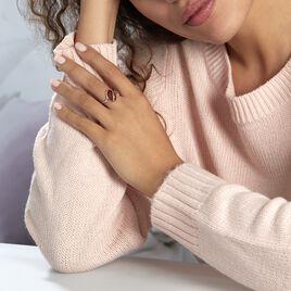 Bague Leeloo Argent Blanc Ambre - Bagues solitaires Femme   Histoire d'Or