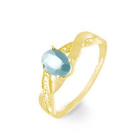 Bague Or Jaune Candice Aigue-marine - Bagues avec pierre Femme | Histoire d'Or