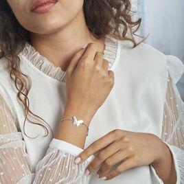 Bracelet Argent Rhodié Lauree - Bracelets Papillon Femme   Histoire d'Or