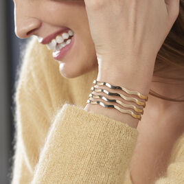Bracelet Jonc Sidwellae Plaque Or Jaune - Bracelets joncs Femme | Histoire d'Or