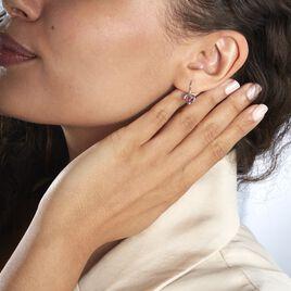 Boucles D'oreilles Danilo Or Blanc Rubis - Boucles d'Oreilles Coeur Femme   Histoire d'Or