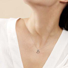 Collier Melesine Or Blanc Diamant - Colliers Coeur Femme | Histoire d'Or