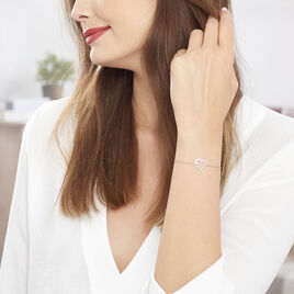 Bracelet Satou Acier Blanc - Bracelets Coeur Femme | Histoire d'Or