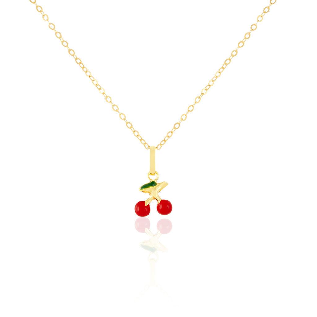 Collier Cherry Cerise Or Jaune - Colliers Naissance Enfant | Histoire d'Or