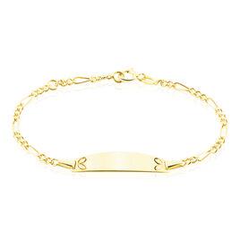 Bracelet Identité Bartolomee Maille Alternee 1/3 3 Or Jaune - Bracelets Communion Enfant   Histoire d'Or